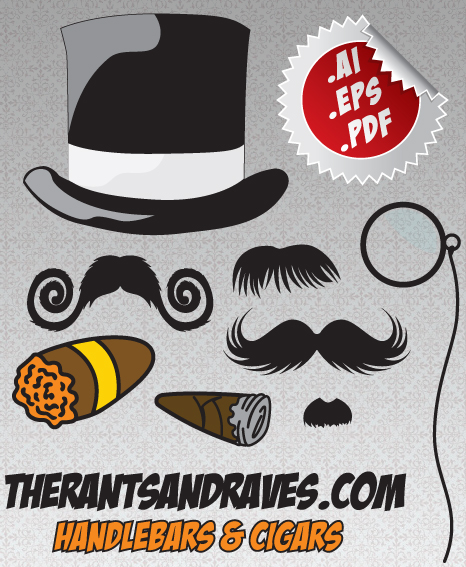 Handlebars and Cigars Vector Mustaches